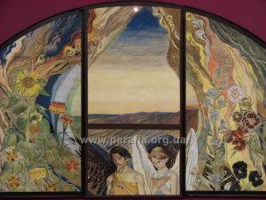 Художник М. Жук. Біле і чорне, панно, 1912 р. Національний художній музей, м.Київ