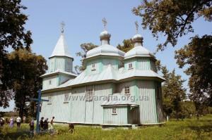 Волинська школа. Георгіївська церква, 1743, с. Сіянці, Рівненщина