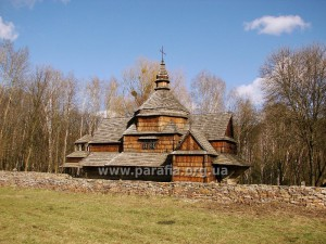 Західноподільська школа. Миколаївська церква, 1817, с. Зелене, Тернопілля