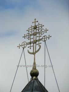 Кований хрест над Миколаївською церквою, 1815, с. Левковичі, Житомирщина