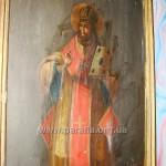 Розпис верхньої панелі шафи «Св. Іоан Золотоустий». Зверніть увагу: «Іоанъ» написано із одним «Н» -- по-українськи!