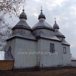 Церква з північного сходу. Несиметричне розташування вікон - архаїчна ознака