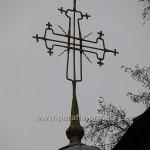 Хрест над бабинцем - можливо, найвишуканіший серед усіх бачених нами хрестів