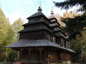 Михайлівська церква, с. Тисовець (нині у Львівському скансені)