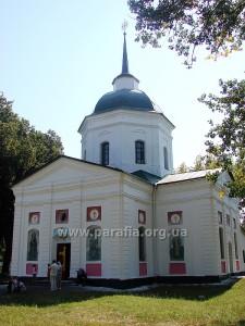Церкви з елементами класицизму. Троїцька церква, с. Вишняки (Полтавщина)
