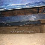 На горищі церкви - коробове склепіння і балки конструкції даху