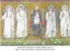 14. Богородиця з Христом на троні. Обабіч ангели. Храм св. Аполінарія Нового. Мозаїка. Равенна, Італія