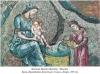 15. Купання Христа Дитяти. Мозаїка. Храм Дванадцяти Апостолів. Солунь, Греція. XIV ст.