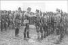 Престолонаслідник ерцгерцог Карл Габсбург на перегляді сотні УСС під командою Р. Дудинського. Гнильне, 1915 p.