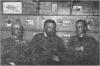 Зліва направо: барон Казимир Гужковський, митрополит граф Андрій Шептицький, ерцгерцог Вільгельм Габсбург. Село Кадлубиськ поблизу Бродів, зима 1917-1918 pp.