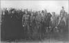 Запорожці під час зустрічі з Українськими Січовими Стрільцями в Олександрівську, квітень 1918 р.