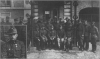 В.Габсбург (у центрі) зі штабом УСС в Олександрівську, 1918 р.