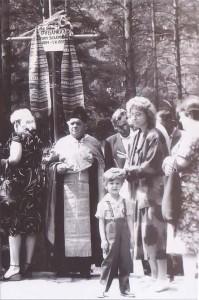 Отець Методій Андрущенко. Панахида у Биківніянському лісі, 1988рік