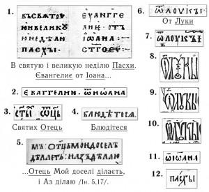 Фрагменти давніх Євангелій