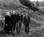 О.П. Діденко, О.В. Білецька під час археологічних розвідок у Христинівському р-ні. 1986 р.