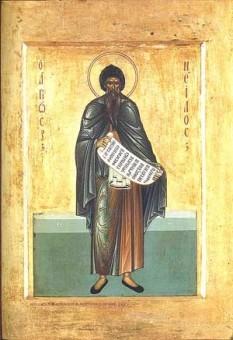 Преподобний Ніл Синайський, ікона старообрядського іконописця Я. Богатенка (1904 р.)