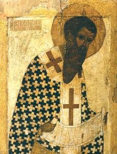 ікона св. Василя Великого кисті великого іконописця Феофана Грека (дата написання - 1405 р.)