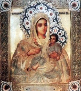 Козельщанська чудотворна ікона Божої Матері у шатах