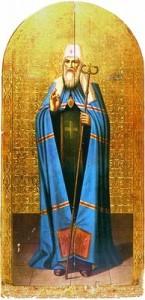 Свт. Іоанн (Максимович), митр. Тобольський і всієї Сибіру. Ікона. Після 1916 р. (Курганський обл. Художній музей)