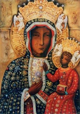 Ченстоховська ікона Пресвятої Богородиці у шатах