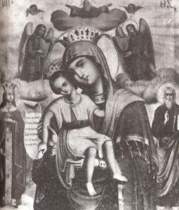 """Ікона Божої Матері """"Достойно Єсть"""""""