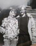 У Пирогові біля хати, з Ганною Куземською,90-ті
