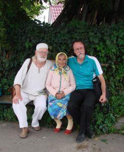 п. Євфросинія з о. Андрієм та Олексою (монахом Нестором)
